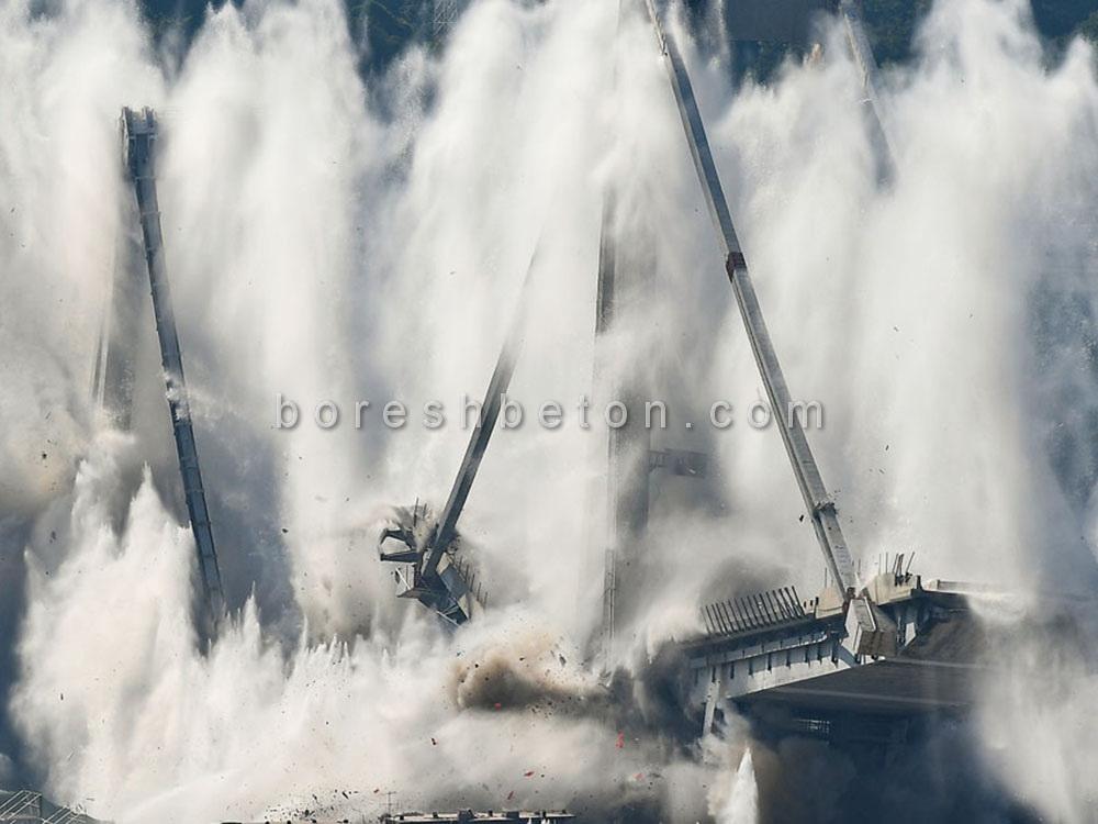 تخریب بتن با مواد منفجره