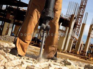 تخریب ساختمان بتنی