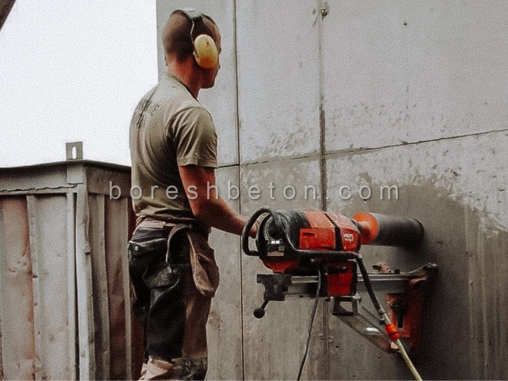 کرگیری بتن دیوار